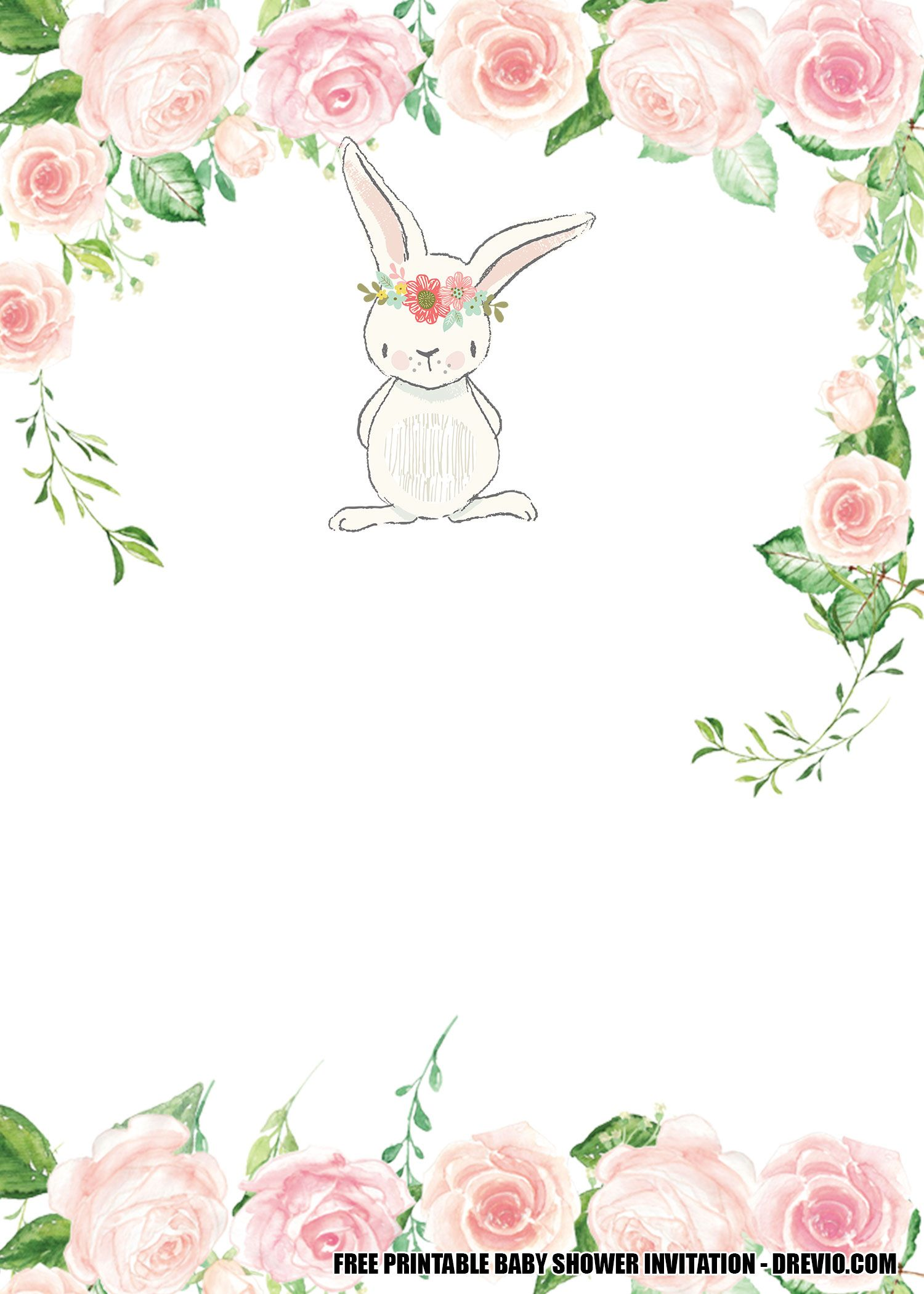 Free Printable Template Some Bunny is One Birthday Invitation in