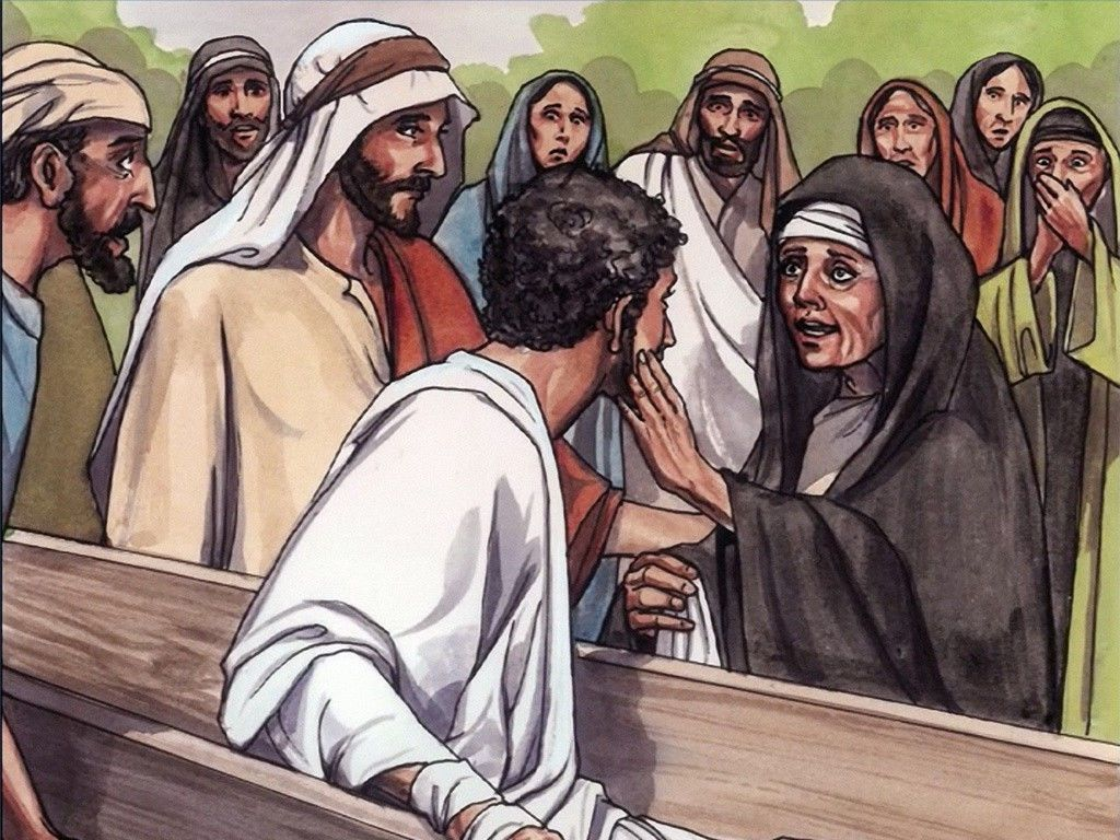 Free Visuals Jesus Raises The Widows Son To Life Dead Of