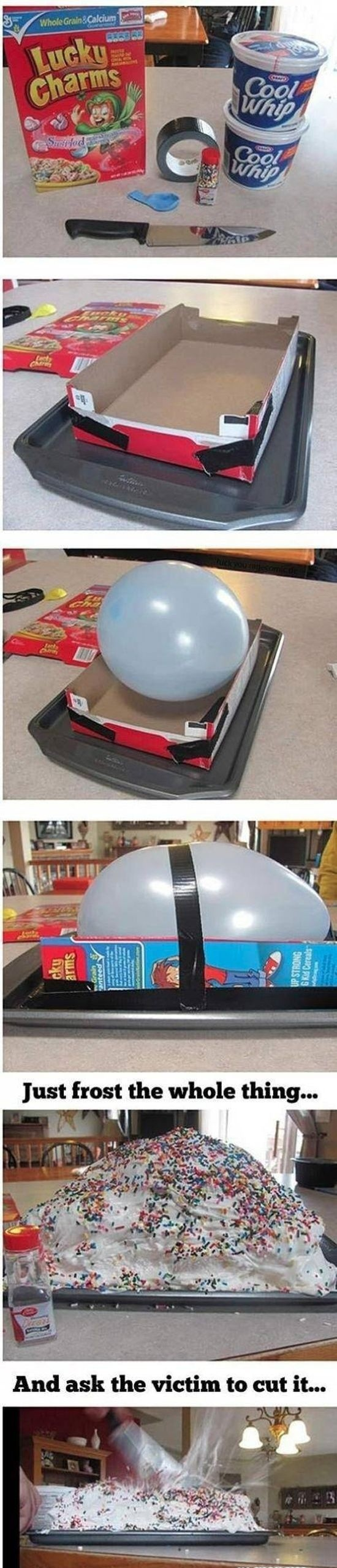 How To Make An Exploding Birthday Cake Funny Pinterest