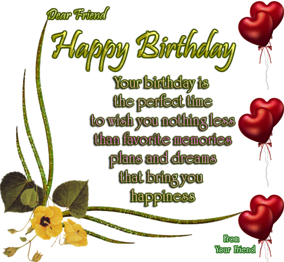 happy birthday images Happy Birthday Poem Friend – Birthday Greeting Poems