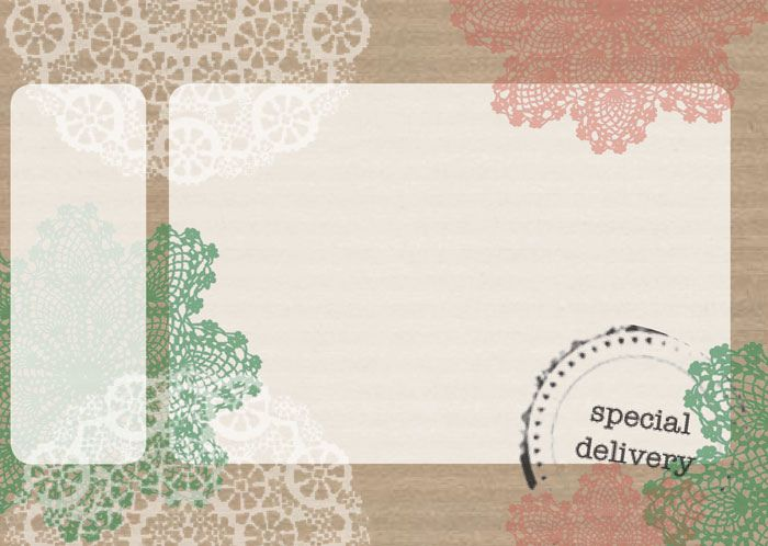 Free printable mailing label with doilies – Free Mailing Label Template