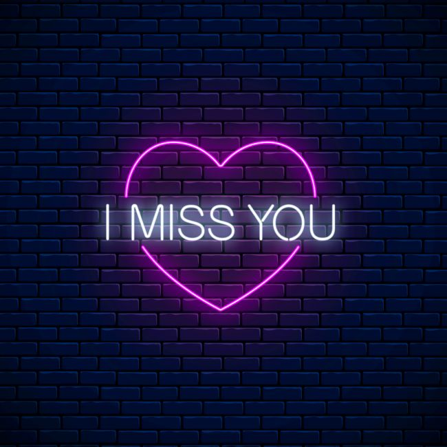 I Miss You Love Heart Led Neon Sign Neon Signs Neon Quotes Neon Signs Quotes