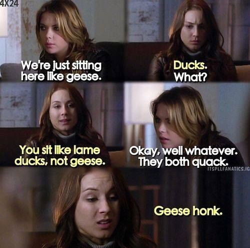 Geese Honk Pretty Little Liars Quotes Preety Little Liars Pretty Little Liars Books