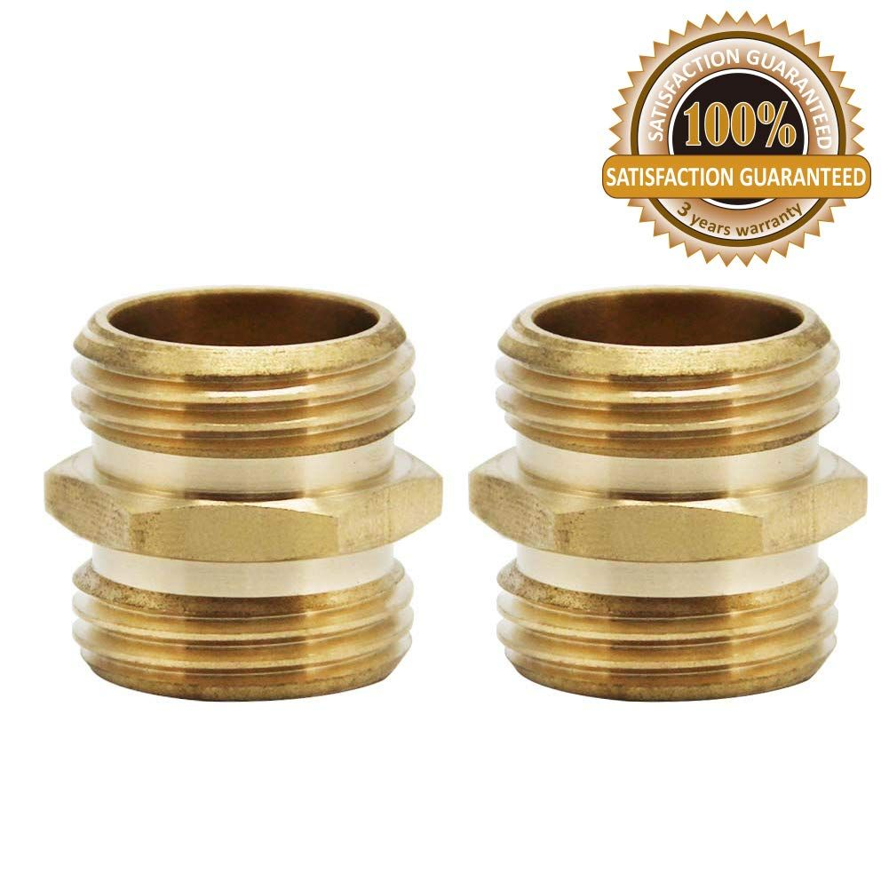 Twinkle Star 3 4 Inch Brass Garden Hose Adapter Double Male Quick Connector See This Great Product It Is An Affiliat In 2020 Twinkle Star Steel File Hose Connector