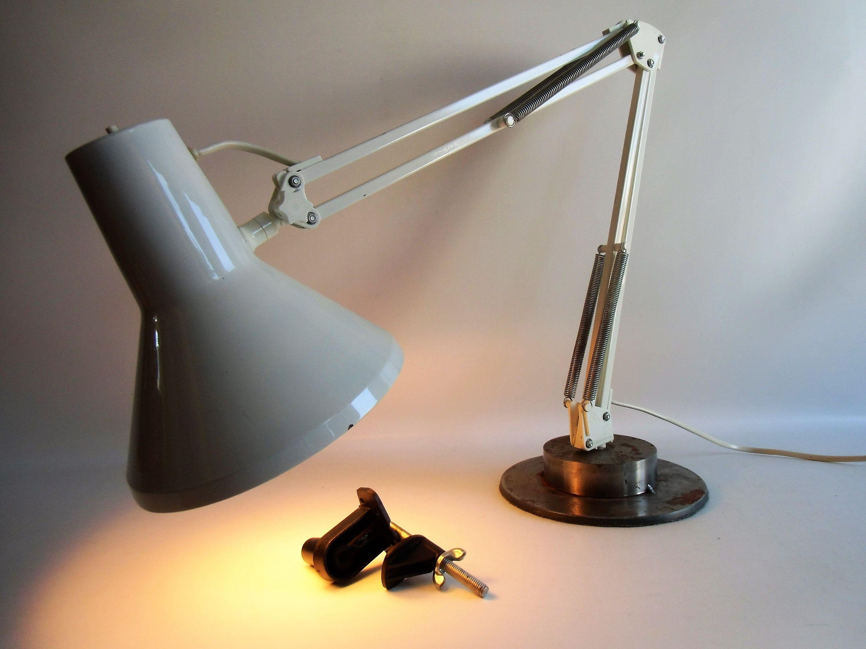 Vintage Architektenlampe Grau Danish Industrial Schreibtisch