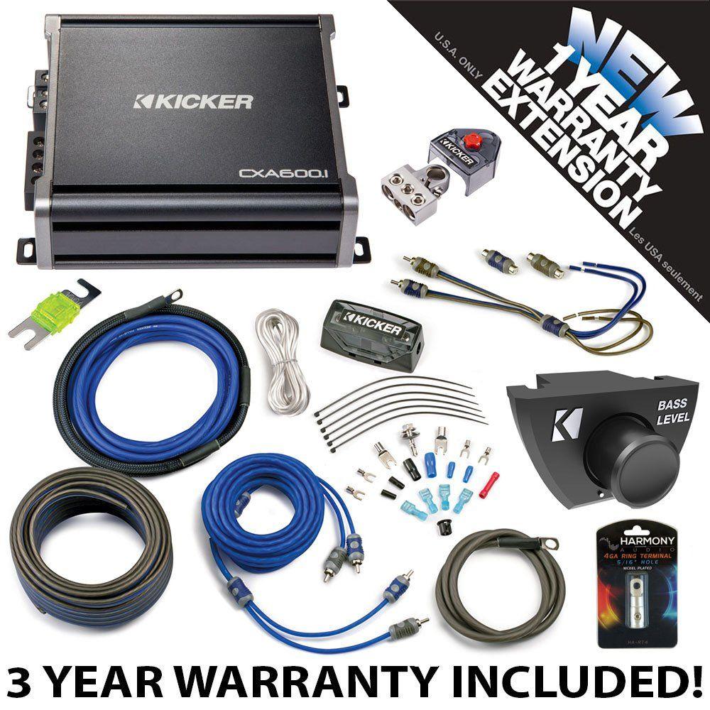 Kicker 43CXA6001 Car Audio Sub Amp CXA600.1 with Remote