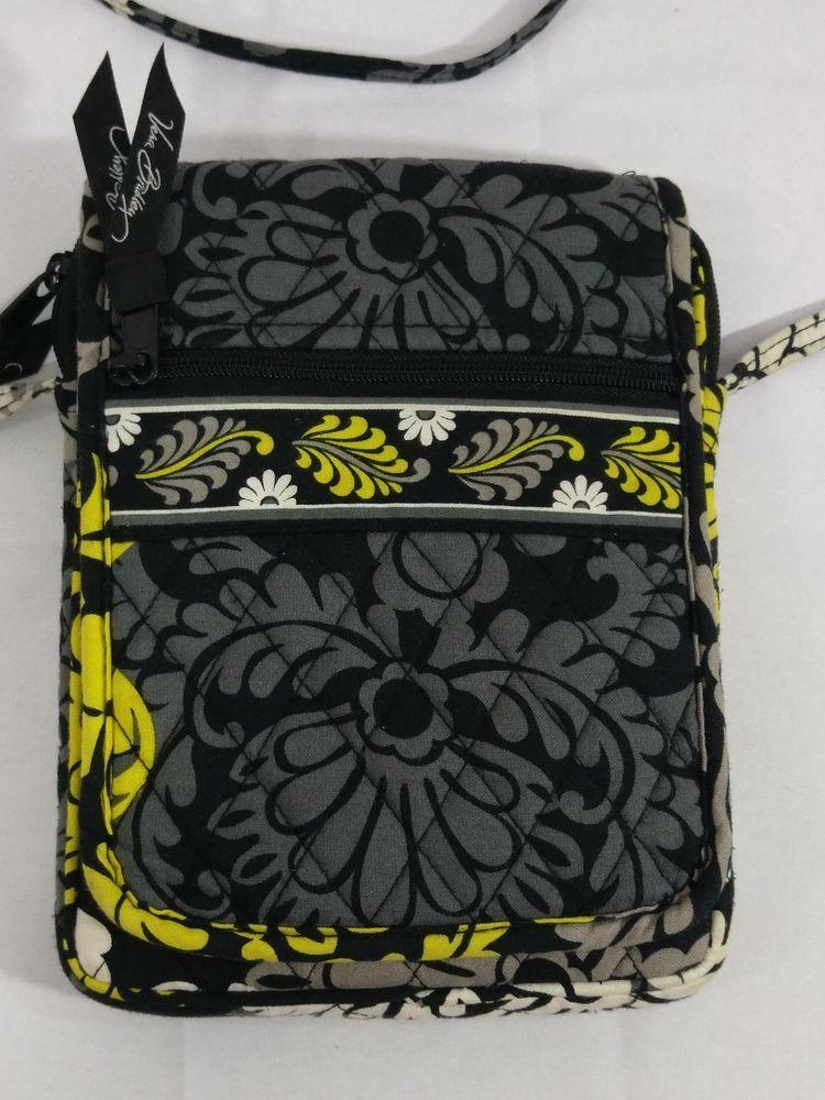 4c59387d2441 Vera Bradley Baroque Black Yellow Mini Hipster Crossbody Messenger Handbag  Purse  VeraBradley  CrossBody
