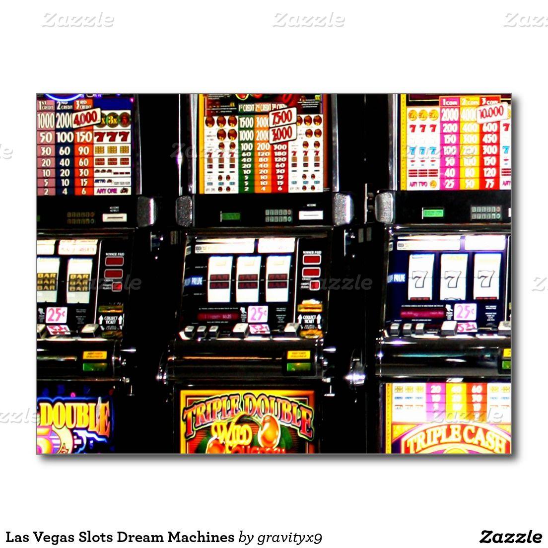 Las Vegas Slots Dream Machines Postcard