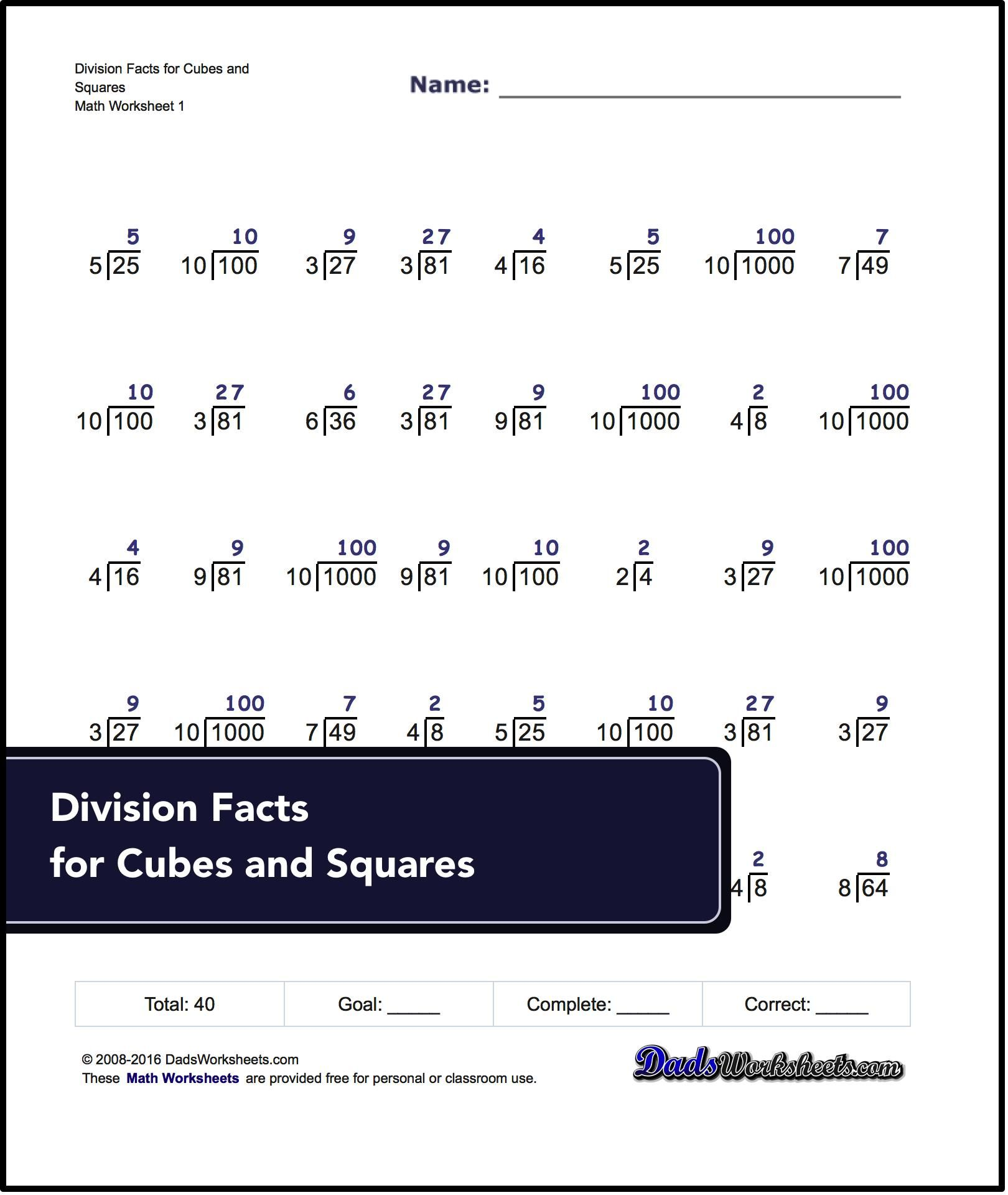 Division For Roots Worksheets These Division Worksheets