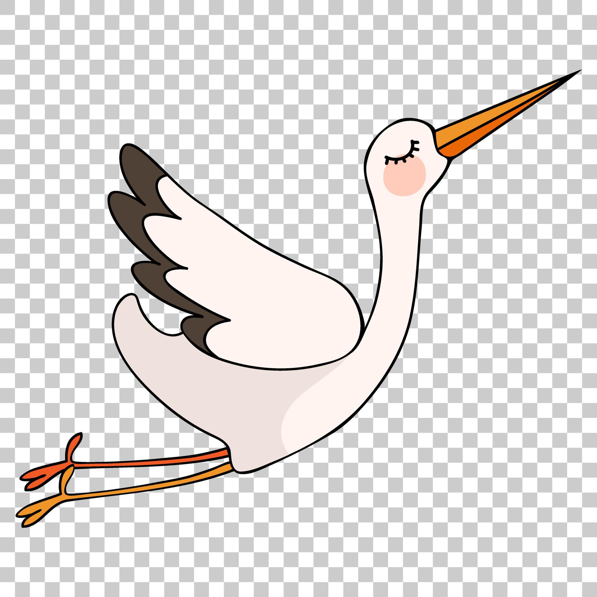 Crane Stork Bird Png Image With Transparent Background Stork Bird Cartoons Png Stock Images Free