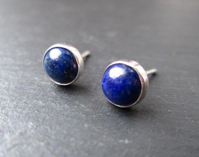 Lapis Lazuli Stud Earrings Silver Studs Gift Jewellery 20 00