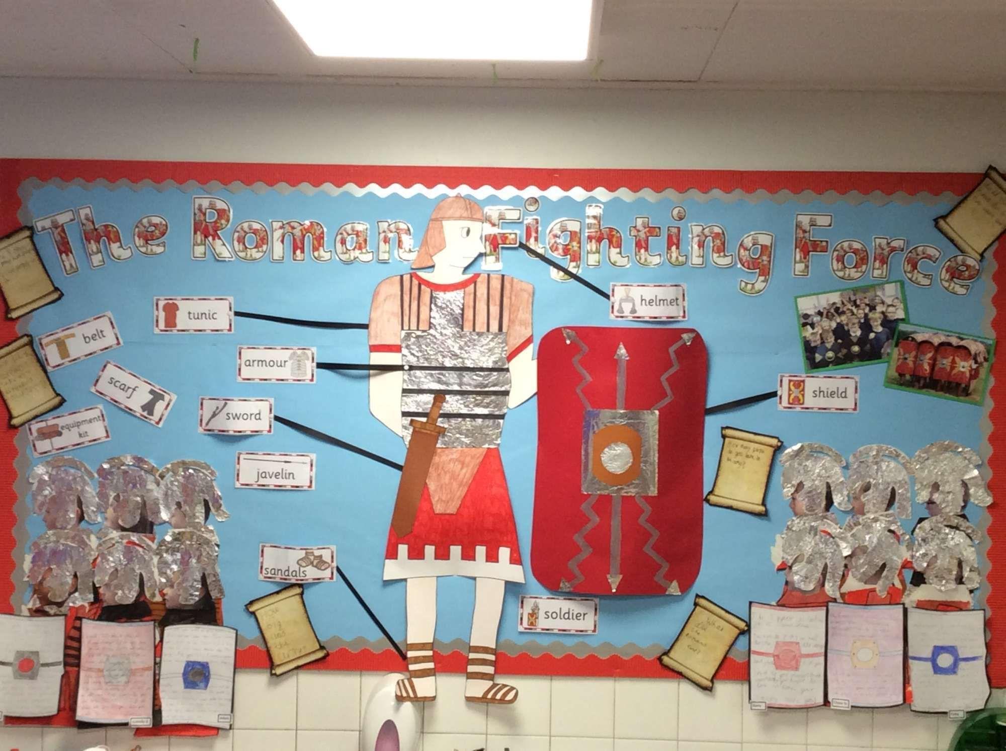 Classroom Ideas Year 3 ~ Year romans classroom display board mar school c