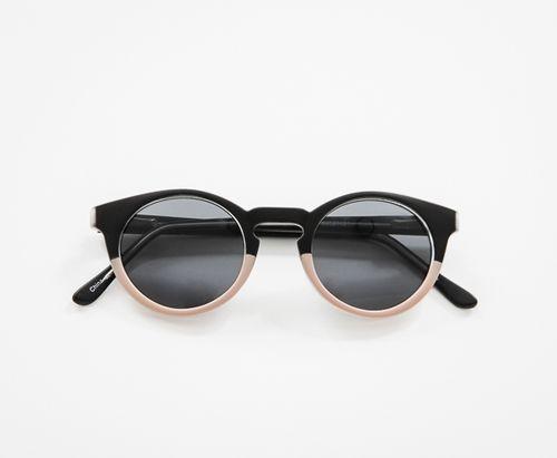 Jimmy Choo Bella Sunglasses in Black/Nude/Brown Violet