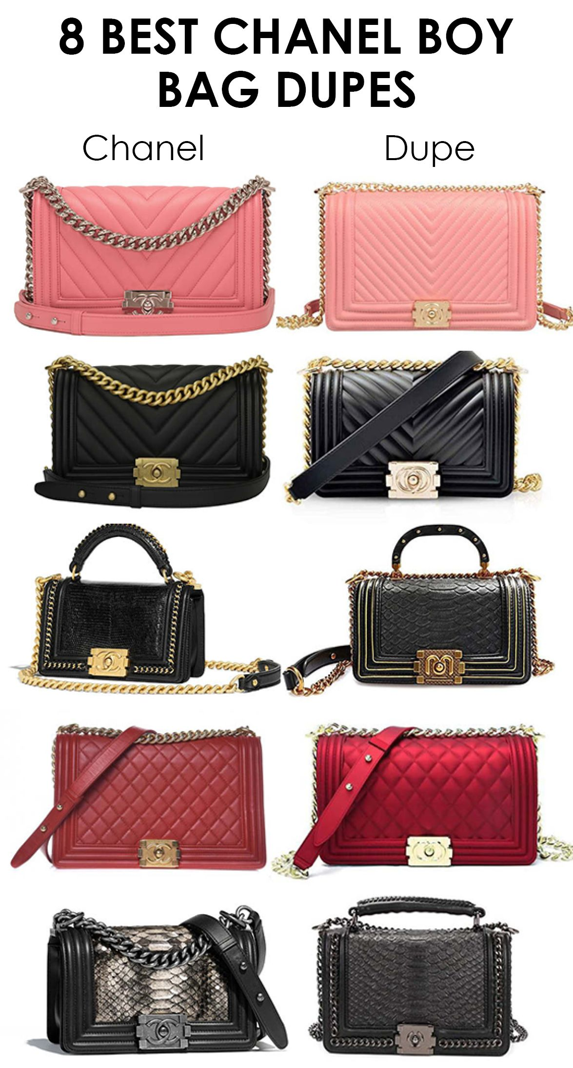 d5aa2a2781db I've been on the hunt for the ultimate Chanel Boy Bag dupes for the