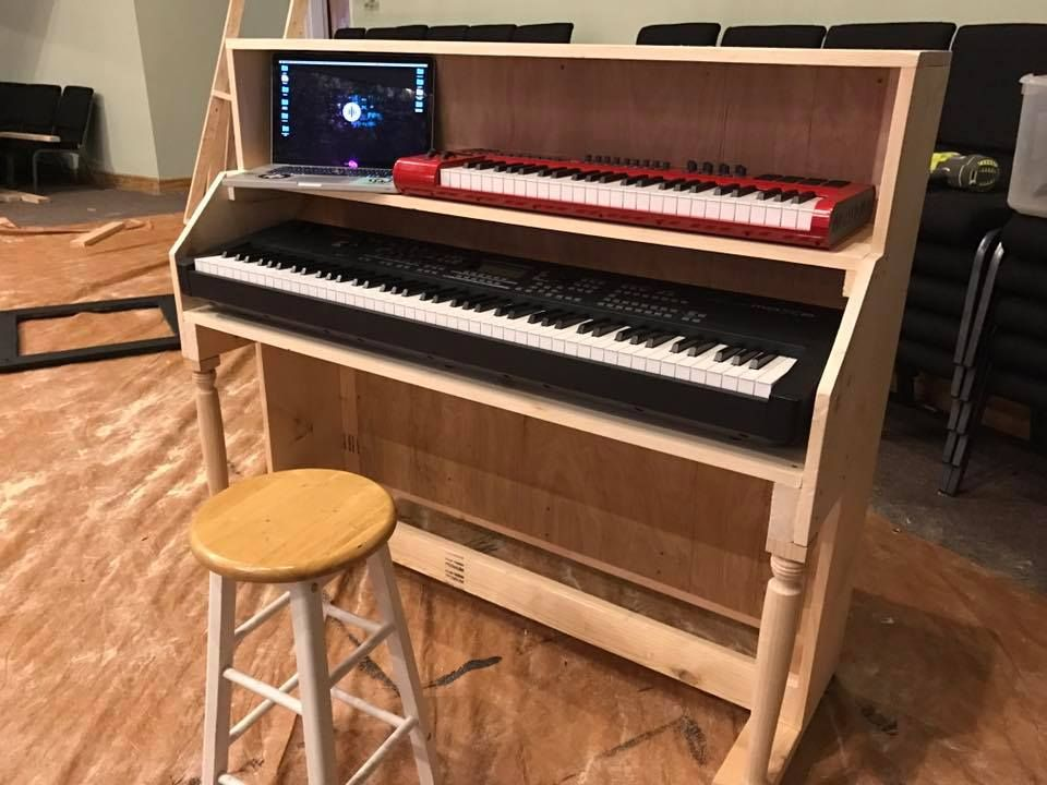 Build an upright piano shell to house your keyboards and