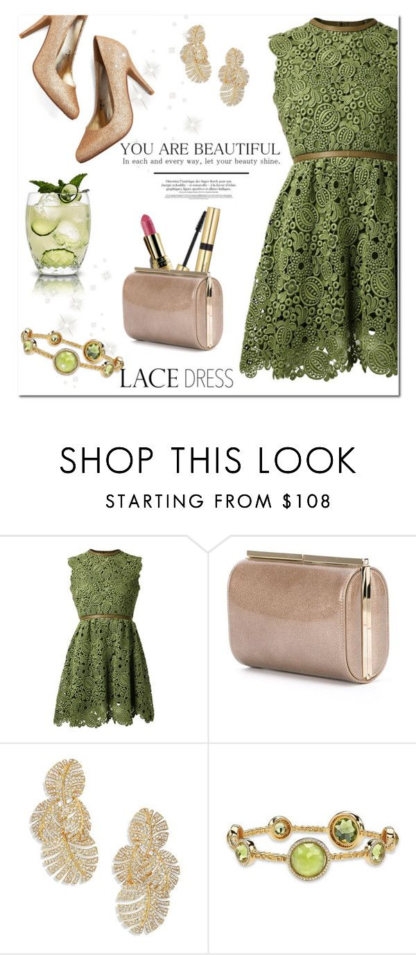 """Lovely Lace Dresses"" by huda-alalawi ❤ liked on Polyvore featuring moda, Valentino, Avon, Jimmy Choo, Adriana Orsini i Palm Beach Jewelry"