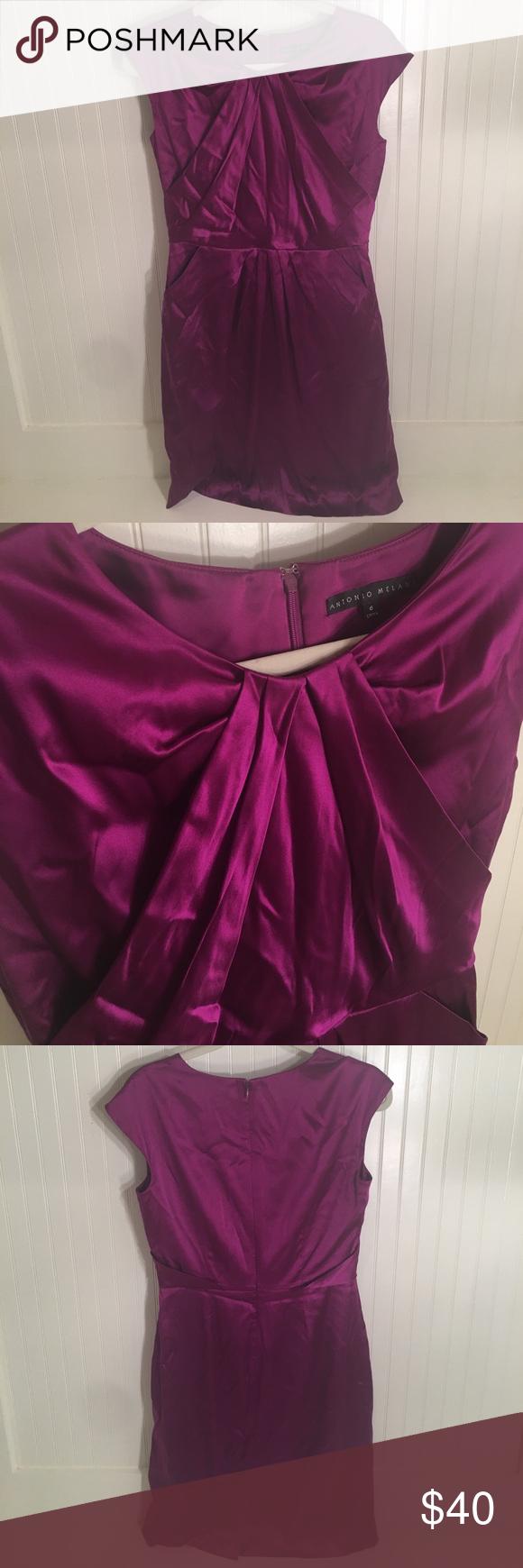 Antonio Melani Royal Purple Cap Sleeve Dress