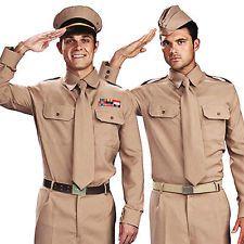1930s to 1940s Soldier Men/'s Fancy Dress Costume