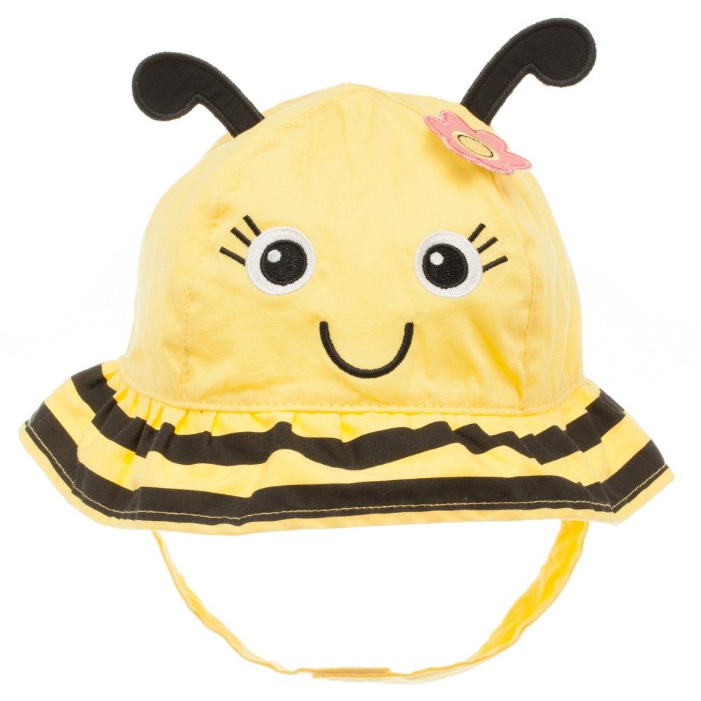 Baby Girls' Bumblebee Sun Hat Yellow 12-24M, Infant Girl's, Size: 12-24 Months, Blue
