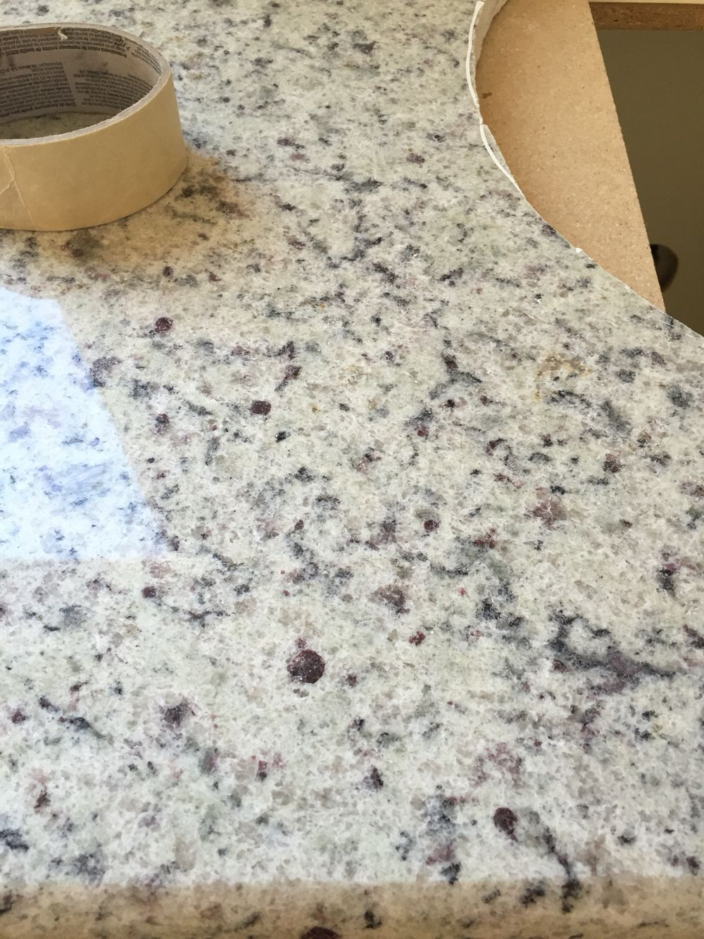 Dallas White Granite Living Room And Kitchen Design White