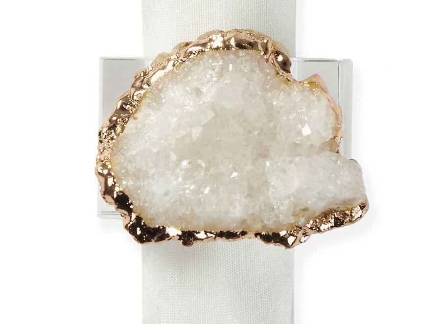 Geode Napkin Ring Set Of 4 Wedding Venues Trendy Wedding Rings