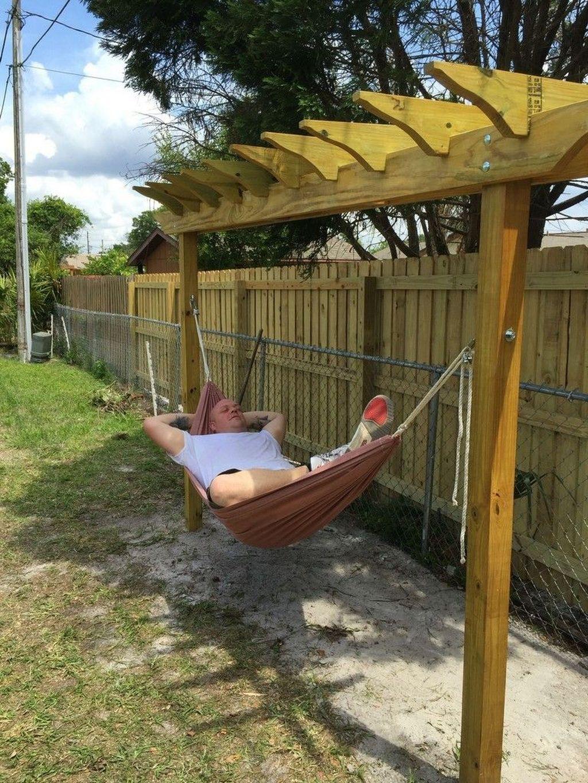 43 Stunning Backyard Hammock Ideas For Relaxation In 2020 With Images Backyard Hammock Cozy Backyard Hammock