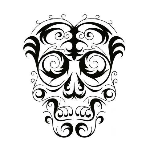 Skulls Airbrushing Free Skull Skull Stencil Skull Tattoo Design Tribal Skull