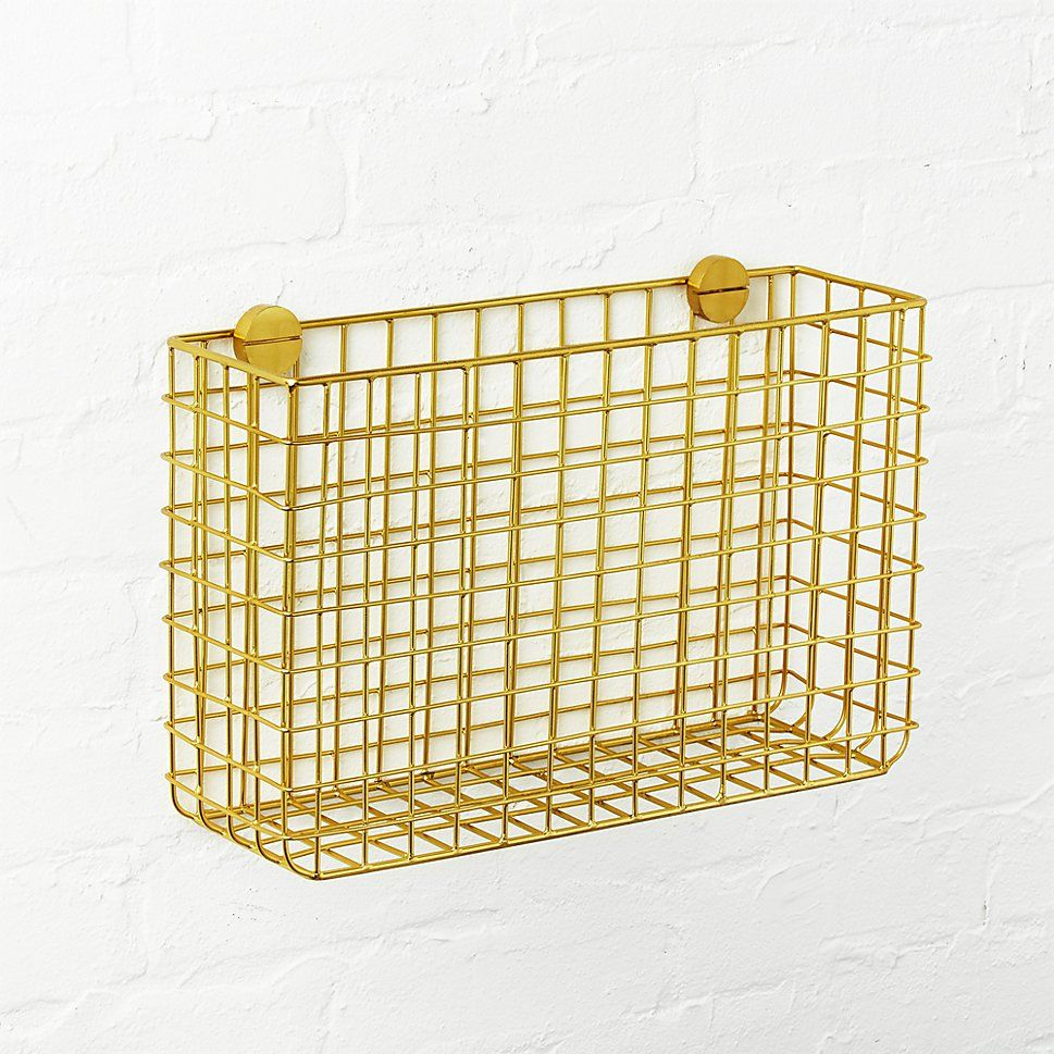 CB2 Grid Brass Magazine Rack | Kitchens, Apartment ideas and Apartments