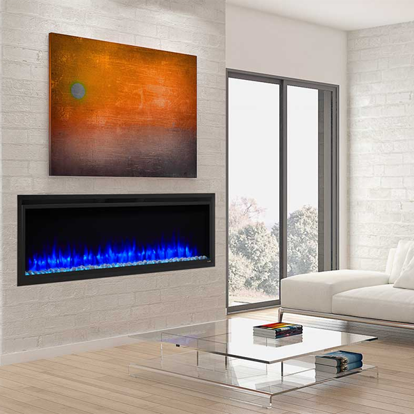 Simplifire Allusion Platinum 60 Linear Electric Fireplace Sf