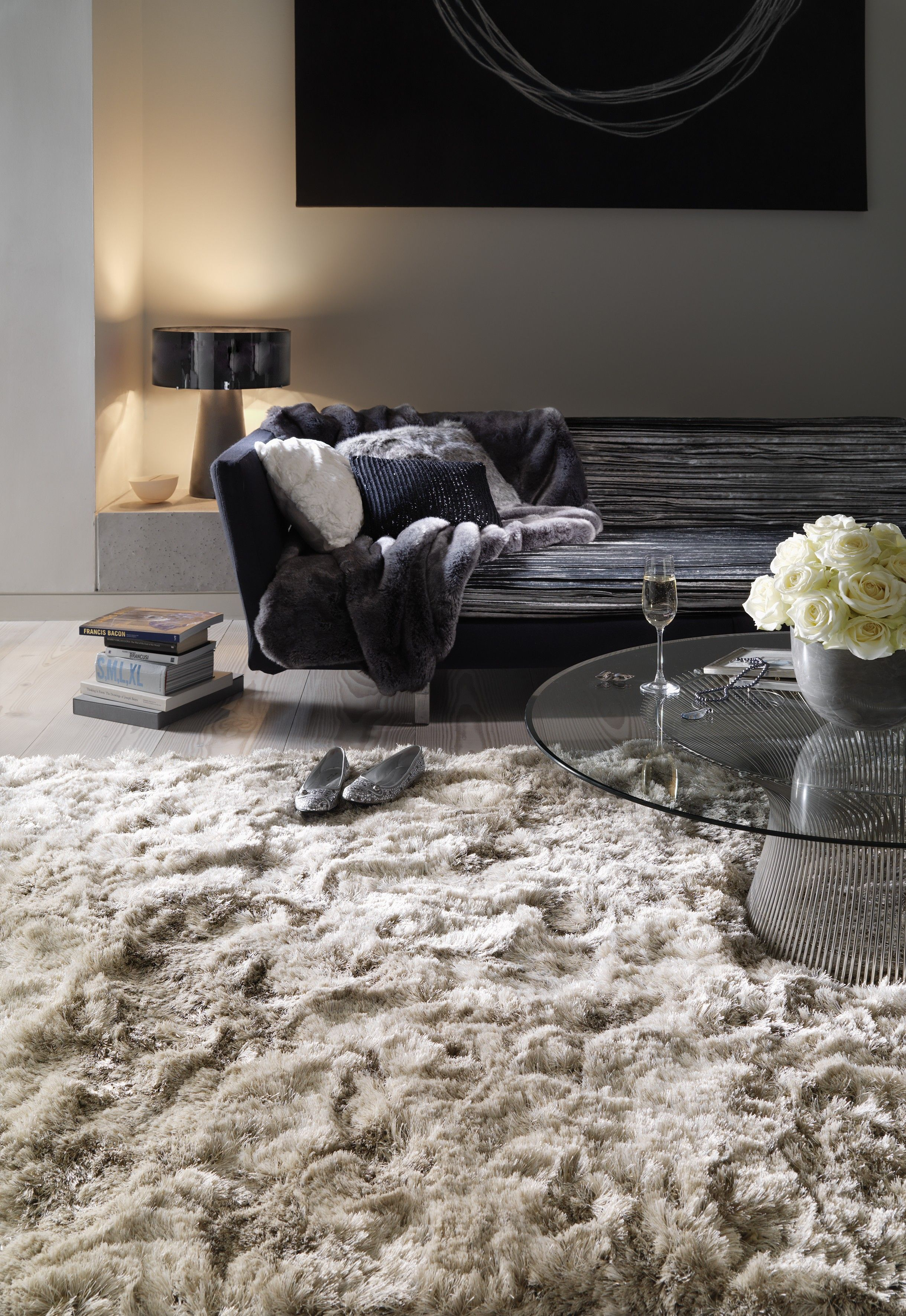 The Fluffy Beige Rug Is A Warm And Soft Essential For Cold Winters