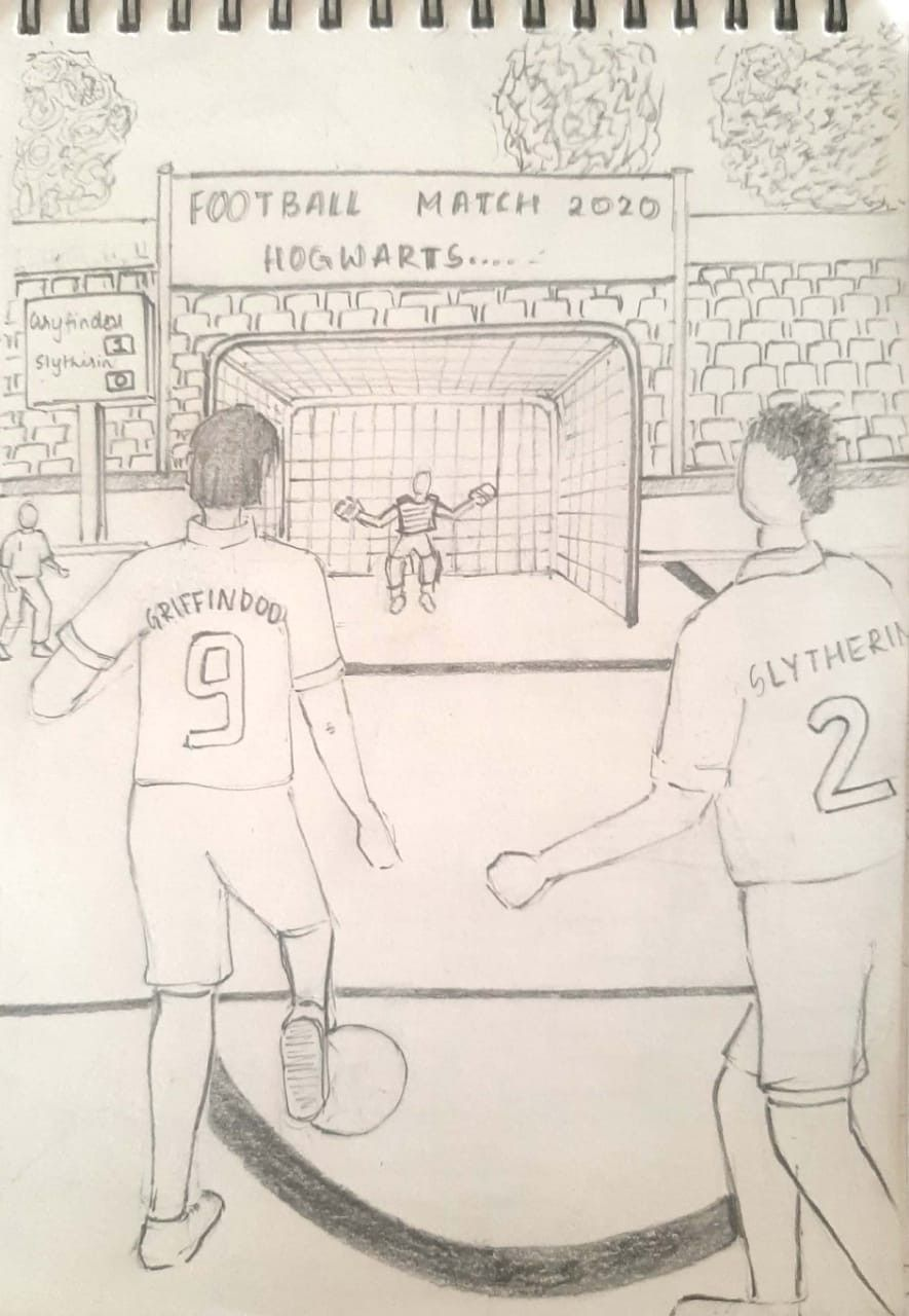 Sketch From Memory You Playing Football Perspective Sketch Perspective Drawing Architecture Human Figure Sketches