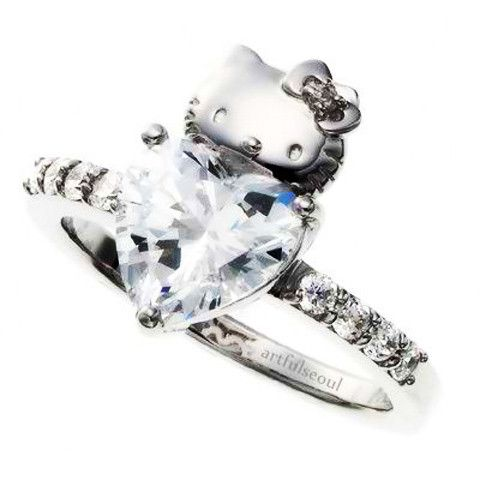 Hello Kitty Wedding Engagement Ring This Is Right Up My Alley