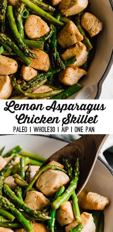 Photo of Lemon & Asparagus Chicken Skillet – Unbound Wellness