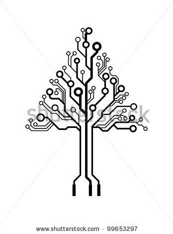 side vector circboard wiring diagram vector logo triangle circuit board tree by bygermina  via  vector logo triangle circuit board tree