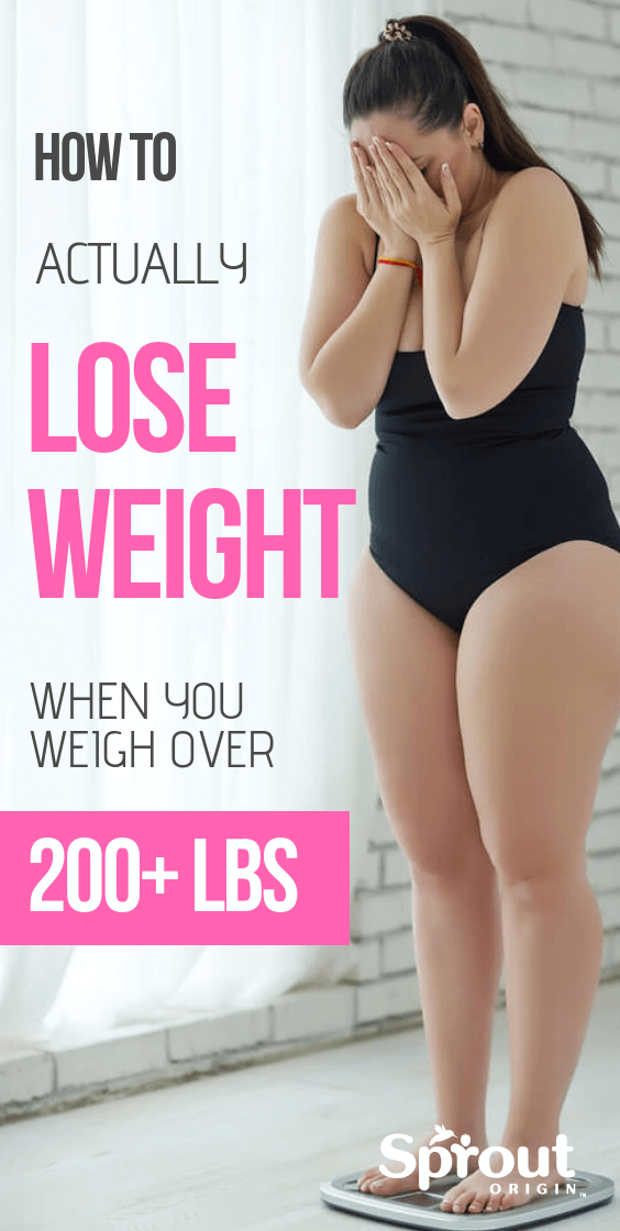 How To Actually Lose Weight When You Weigh Over 200 Lbs Have you tried all the recommended weight loss tips only to lose nothing? Here's How To Lose Weight if You Weigh Over 200 Lbs. We cover all the reasons why your weight loss efforts have not been working and show you what to do instead.