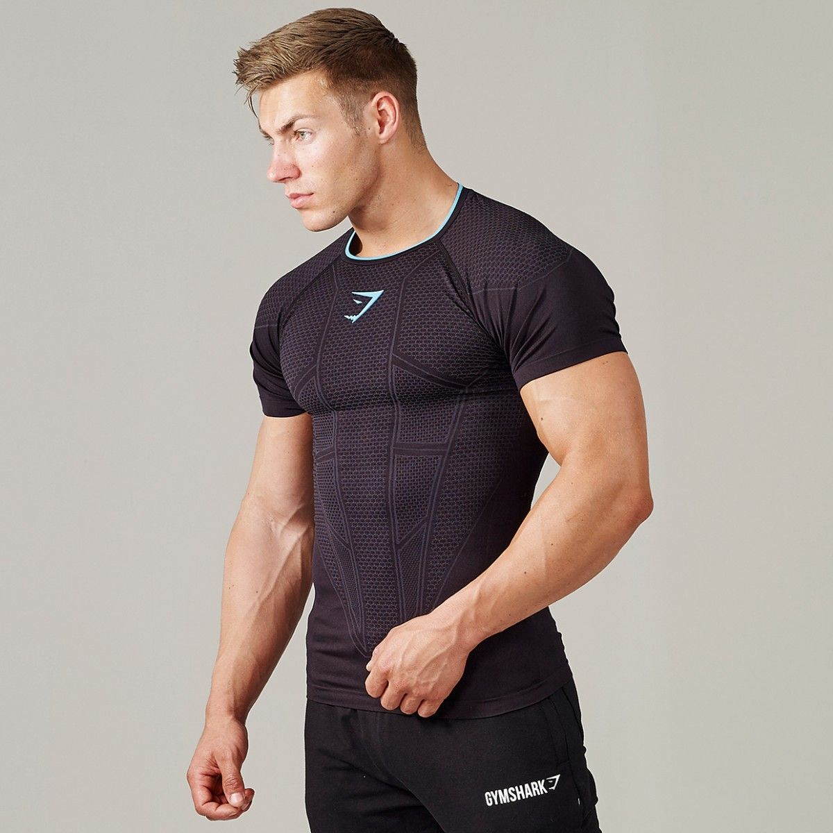 Gymshark Onyx Seamless T-Shirt - Black - New Releases - Featured - Mens | male outfit for uc804ubcf5 ...