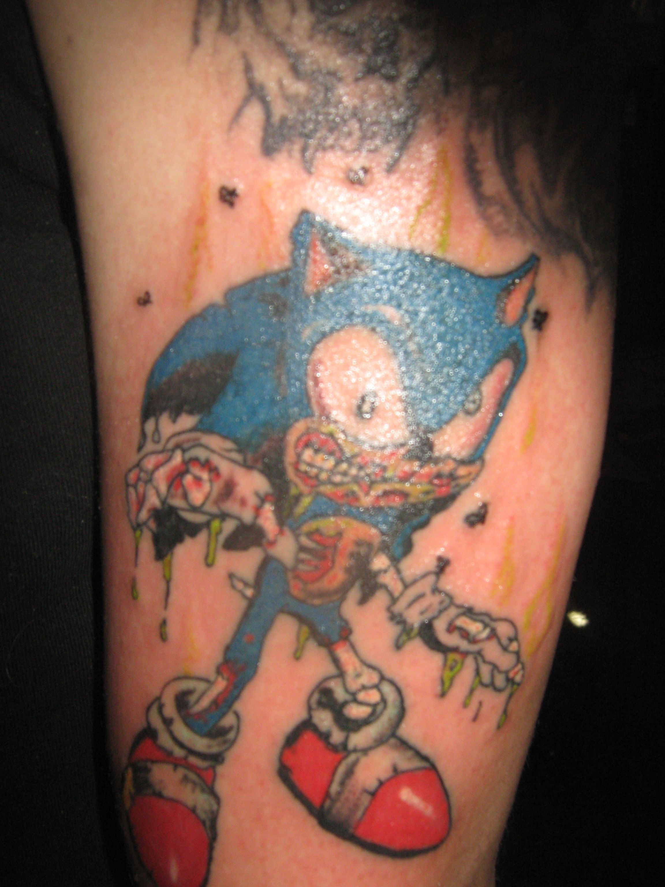 Zombie Sonic Hedgehog Tattoo Hedgehog Tattoo Tattoos Hedgehog