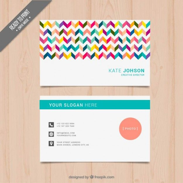 Molde do carto business cards business and card templates add a bit of color to your contact info order vibrant full color business cards reheart Images