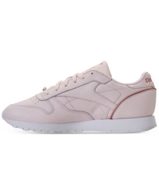 5076b7a2335 Reebok Women s Classic Leather Hw Casual Sneakers from Finish Line - Pink  5.5