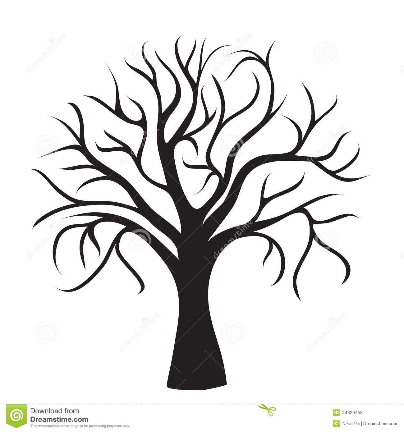 Black Tree Without Leaves With Images Black Tree Tree Outline