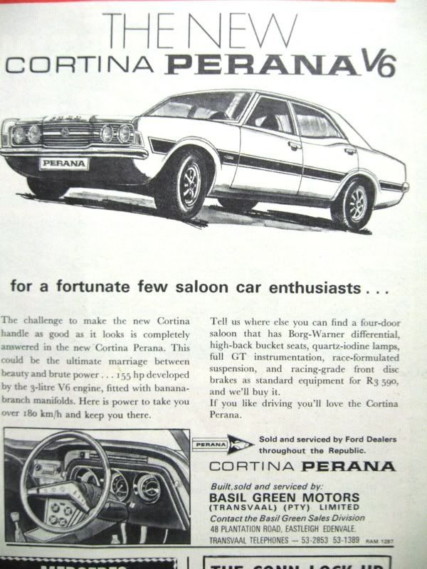 Ford Cortina V6 Perana From South Africa Ford Motor Company Ford Capri Classic Cars