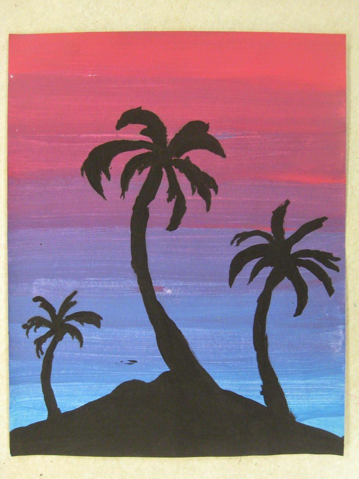 6th Grade Analogous Color Paintings Cizimler Sanat Pastel