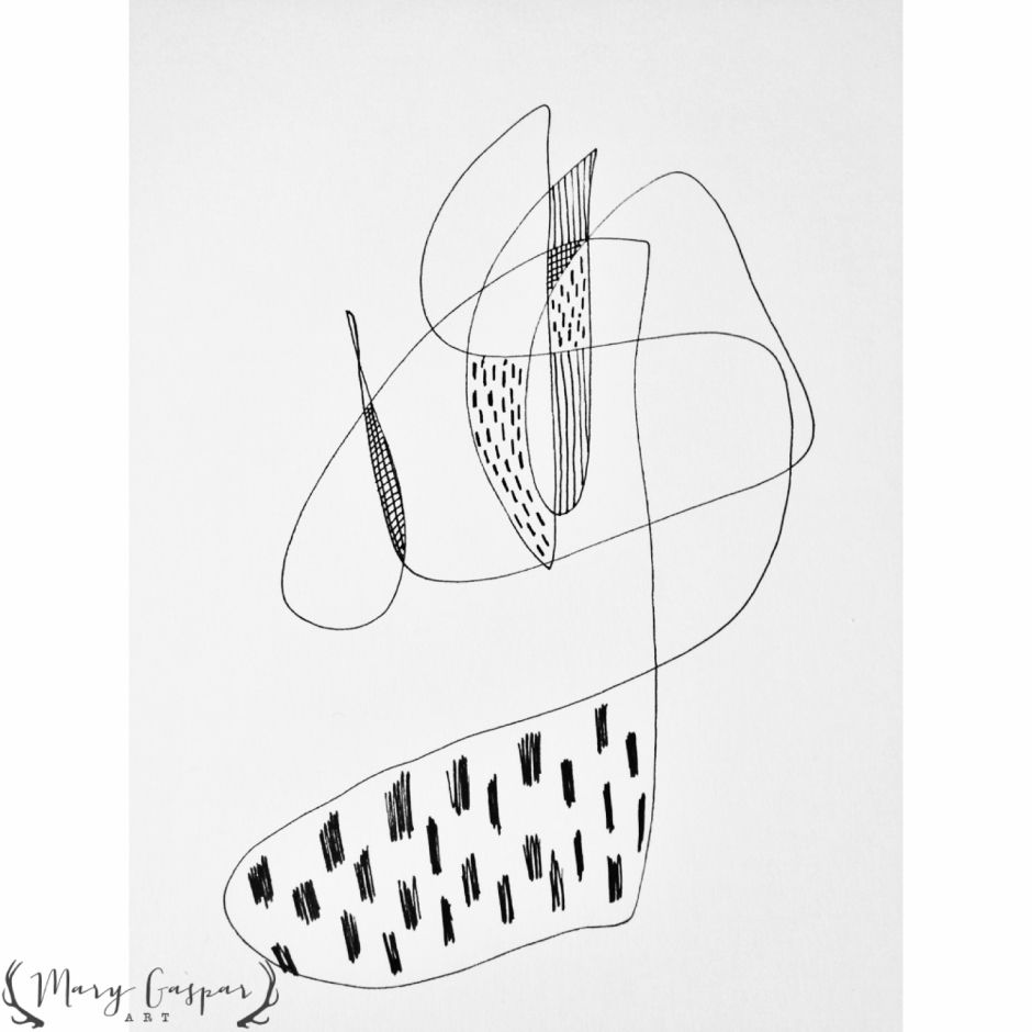 Abstract Black and White sketch