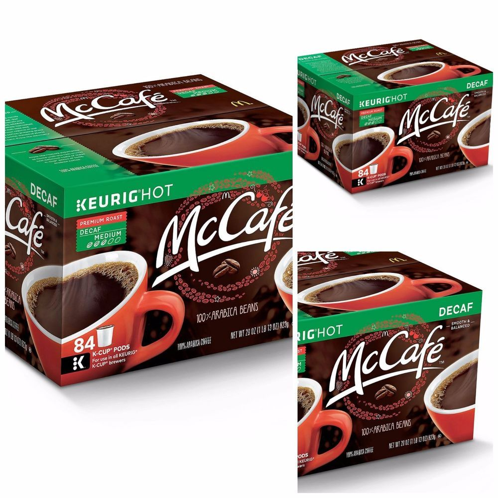 McCafe Premium Roast DECAF Coffee (84 KCups) Pods Hot