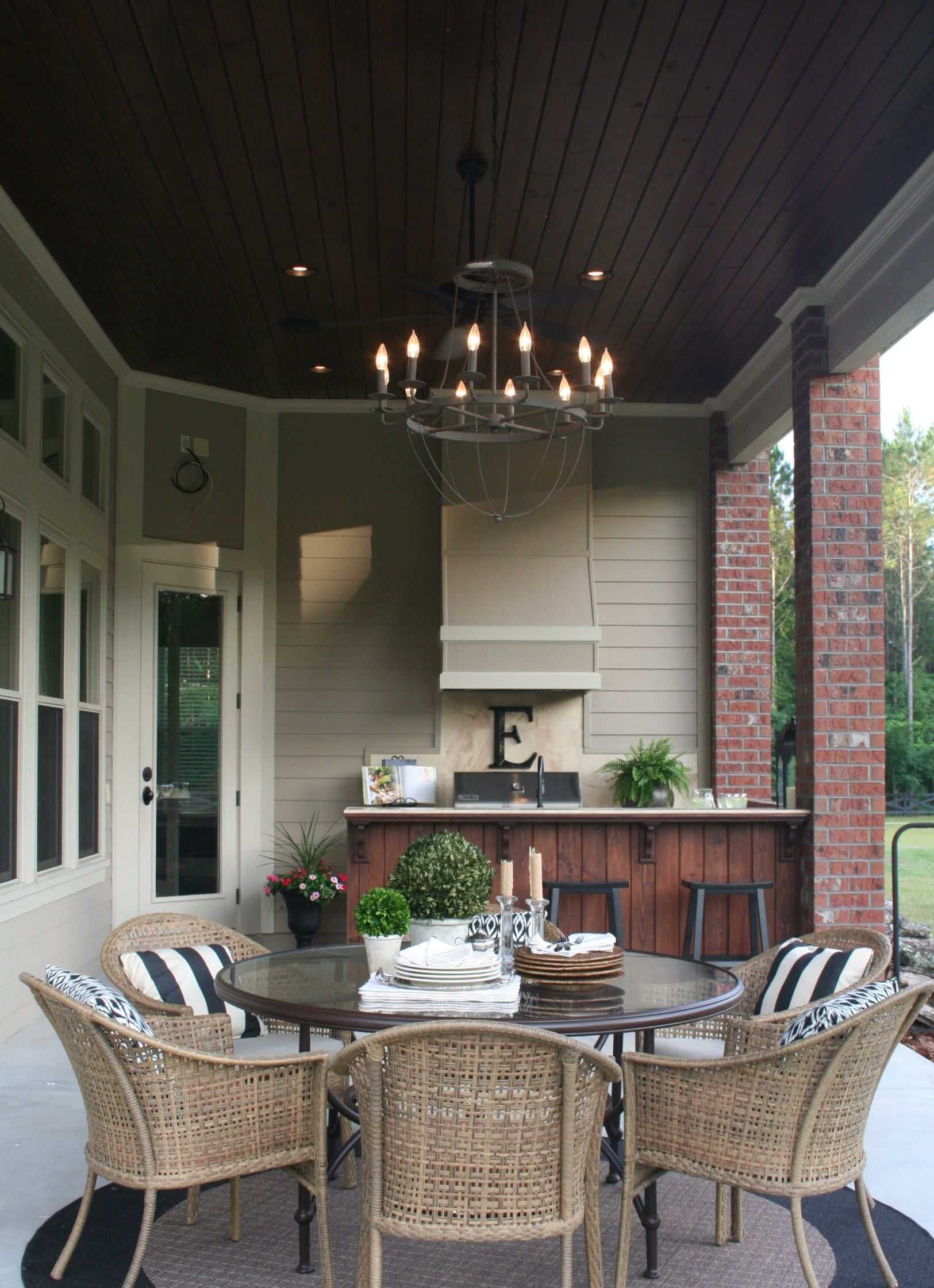 Anatomy of a great outdoor space...Summer kitchen complete with ...