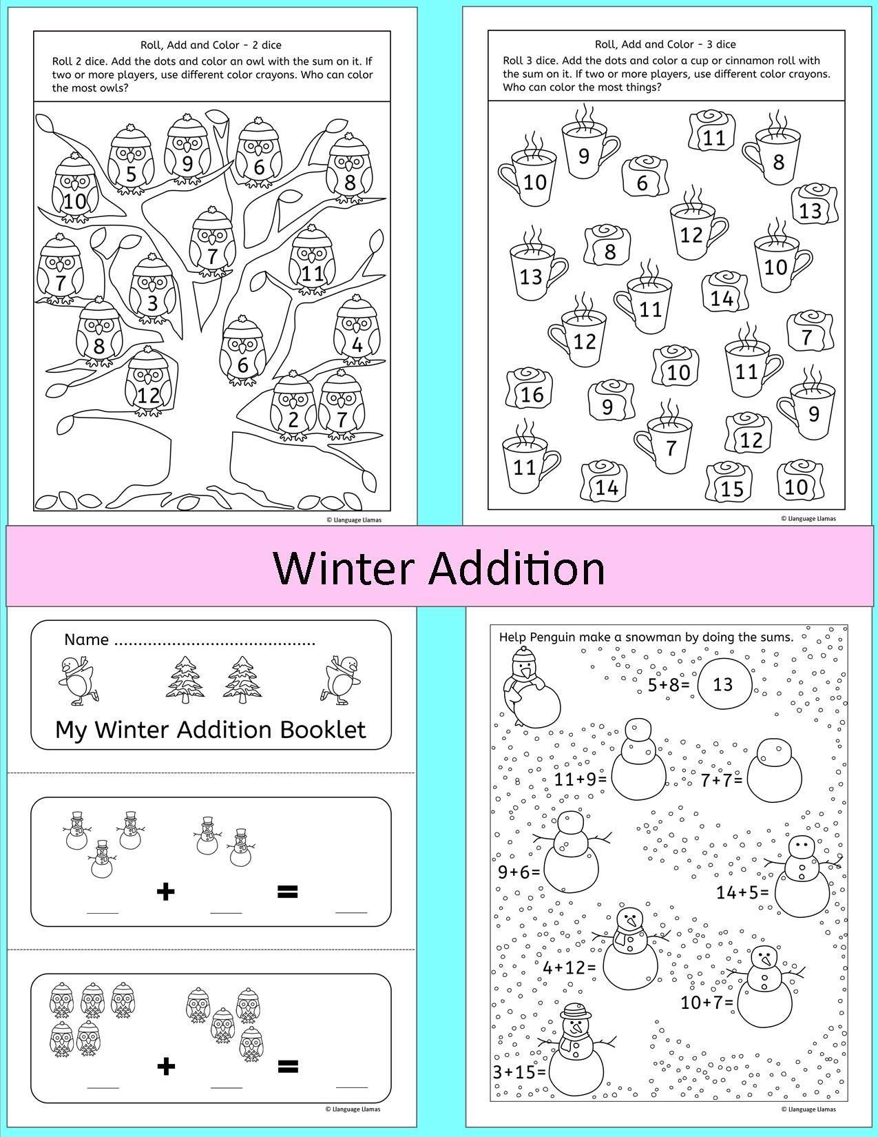 31 No Prep Pages Of Fun Resources With Cute Winter