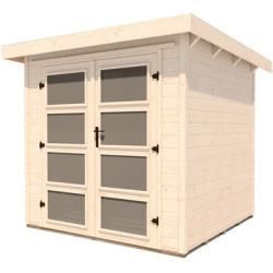 Weka solid wood garden house with flat roof, approx. 278 x 293 cm WekaWeka #flat roof # … – Vine Ideas
