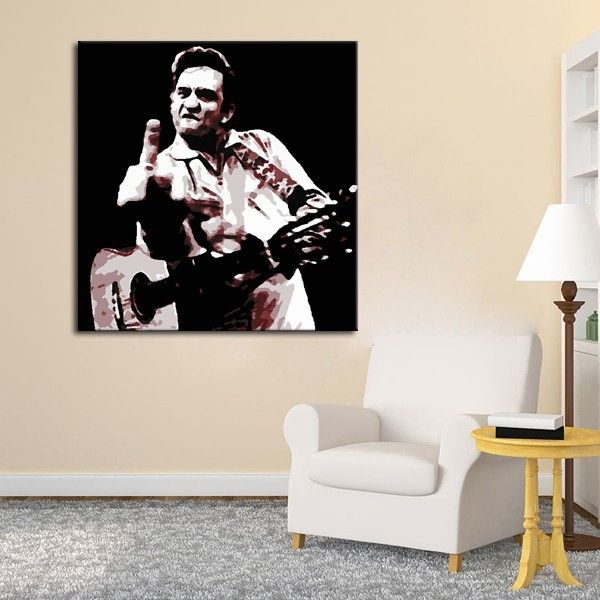 Https Www Aliexpress Com Store Product Wallpaper Canvas Painting Johnny Cash Picture Oil Painting On Canvas Wall Dec Wall Canvas Kids Bedroom Canvas Painting