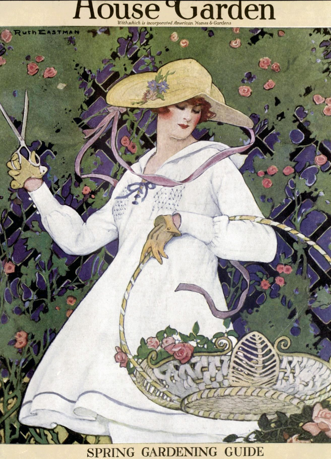 March 1916 cover of House and Garden magazine by Ruth Eastman