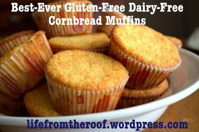 gluten-free dairy-free cornbread muffin recipe I substituted coconut oil for the earth balance and 1 cup oat flour for the gf flour. So good!
